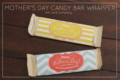 free mother's day candy bar wrapper at kiki and company