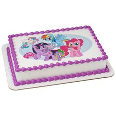 "My Little Pony Edible Cake Topper. Printed on a 8 x 10"" Frosting Sheet."