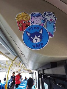 Street Stickers on Bus