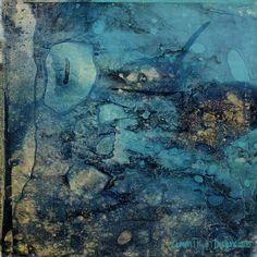Blue Lagoon—a Citra Art abstract by Citra Artist: Christy RePinec, LemonTrystDesigns©2014, Citra Solv art.