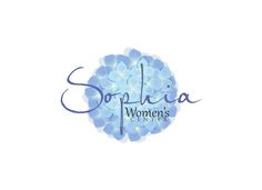 Create a welcoming logo for Sophia Women's Center with a possible hydrangea. by pixdesign2014