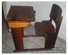 mobiliário na escola antiga-carteira