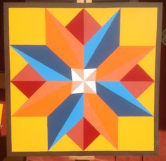 """Multi-pointed Star Barn Quilt 36"""" x 36"""" by WoodBarnQuilts on Etsy https://www.etsy.com/listing/257764114/multi-pointed-star-barn-quilt-36-x-36"""