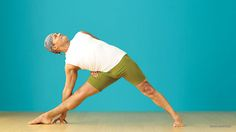 hyperextended knee, Baddha Trikonasana (Bound Triangle Pose) Baron Baptiste