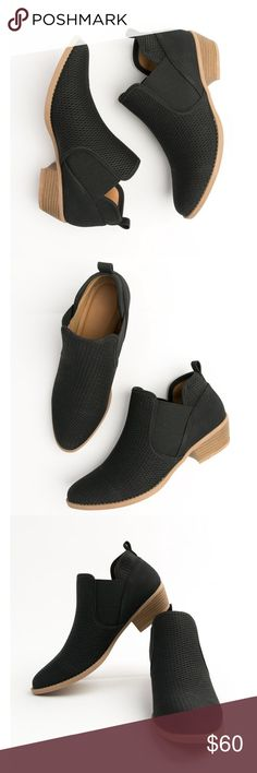"""NIB Weekend Adventure Booties in Black  Ready for the weekend? Then you need these booties! Black Distressed Nubuck Pointed Toe, Slip On Height: 1.75"""" Qupid Shoes Ankle Boots & Booties"""