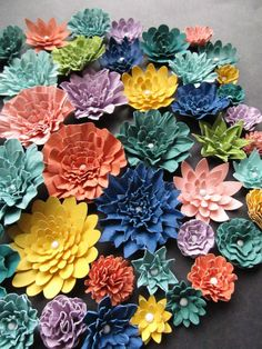 Weddings Paper Flowers Bulk Lot Ready to ship Colors by mcfunk90, $63.00