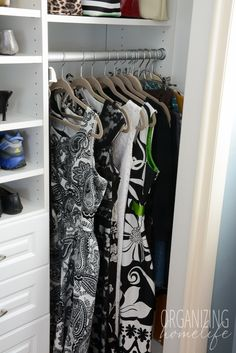 Master Bedroom Closet Organization ~ The Reveal