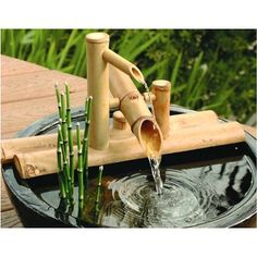 Bamboo Rocking Fountain Kit, Small Deer Chaser Fountain, Small Shishi Odoshi | Japanese Style, Inc.new Zealand company