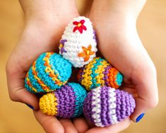 If Cadbury has mini eggs why shouldn't we!? This mini Easter eggs crochet pattern is so fun to work up and so easy too!! Play with colors, add a little embroidery, let your creativity run wild ... . They work up so quickly that you're sure to have a basketful by Easter!