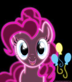 Pinkie Pie and her cutie mark neon neon ponies folder Mlp My Little Pony, My Little Pony Friendship, Equestria Girls, Princesa Celestia, My Little Pony Wallpaper, Little Poni, Imagenes My Little Pony, Mlp Fan Art, My Little Pony Drawing