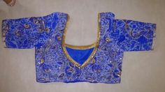 Peacock self made designer.blouse