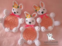 Free Pattern: Rabbit Coasters
