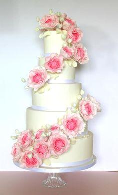 Peony Cascade - Cake by edwina142