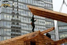 Anreichen des Dachs #Alpenzauber #Köln #MediaPark