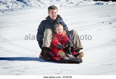 Verbier, Switzerland. 8th Feb, 2015. Crown Prince Frederik and Princess Josephine of Denmark pose at a photocall during their wintersport holidays in Verbier, Switzerland, 8 February 2015. Photo: Patrick van Katwijk/ POINT DE VUE OUT - NO WIRE SERVICE -/dpa/Alamy Live News - Stock Image