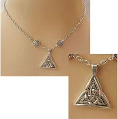 Silver Celtic Trinity Knot Pendant Necklace Handmade Adjustable Fashion NEW  #Handmade http://www.ebay.com/itm/Silver-Celtic-Trinity-Knot-Pendant-Necklace-Handmade-Adjustable-Fashion-NEW-/162190700208?ssPageName=STRK:MESE:IT