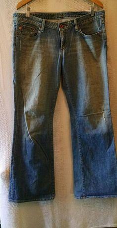 Big Star Women's 'Sweet' Low Boot Jeans Cotton Blend USA  33R #BIGSTAR #BootCut