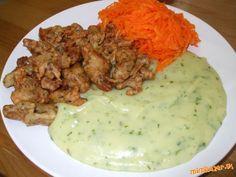 Chrumkavé sójové rezance v zemiakovo bylinkovom cestíčku Seitan, Russian Recipes, Tofu, Mashed Potatoes, Meat, Chicken, Breakfast, Ethnic Recipes, Polish