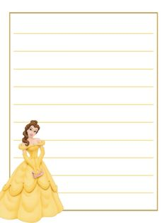 Journal Card - Belle - yellow dress - handbag - lines - photo by pixiesprite