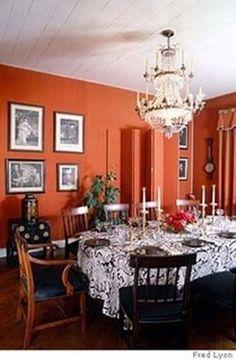 images  paint inspiration  pinterest orange dining room benjamin moore  orange