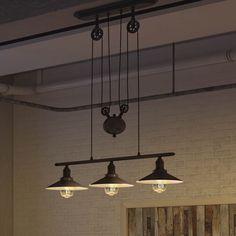 Vonn Lighting Delphinus VVC31023BZ 35-inch Linear Adjustable Industrial Bronze Chandelier Lighting with LED Filament Bulbs (Architectural Bronze), Black