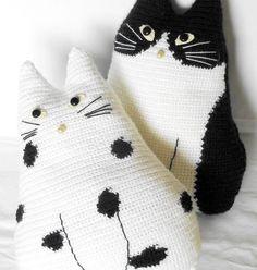 crocheted cats amigurumi crochet inspiration Figures