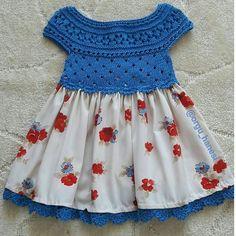 Crochet Toddler, Crochet Girls, Crochet Baby Clothes, Crochet For Kids, Baby Dress Patterns, Frock Patterns, Fabric Tutu, Kids Gown, Little Girl Dresses