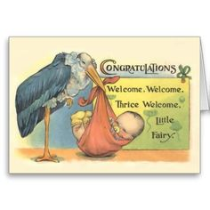 Vintage New Baby Greeting Card  What an adorable little baby. A gorgeous card to commemorate the birth of a new baby. Featuring the...