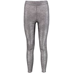 Boohoo Lia Foiled Rib Highwaist Leggings | Boohoo ($20) ❤ liked on Polyvore featuring pants, leggings, elastic waist pants, flat-front pants, high-waisted leggings, high waist stretch pants and high-waisted pants