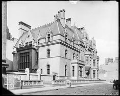 William K. Vanderbilt mansion; rear view. Corner of 666 Fifth Avenue and 52nd Street. Collection of Museum of the City of New York
