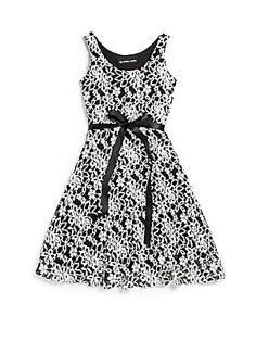 Un deux trois girls lace skater dress white