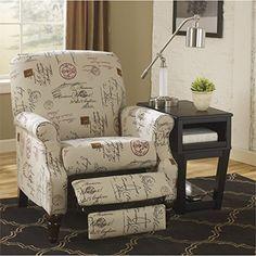 Signature Design by Ashley Placido Script High Leg Recliner  http://www.furnituressale.com/signature-design-by-ashley-placido-script-high-leg-recliner-2/