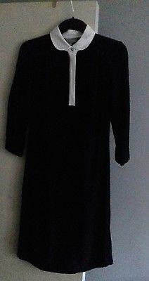 GHOST BLACK DESIGNER DRESS PETER PAN WHITE COLLAR - SIZE SMALL