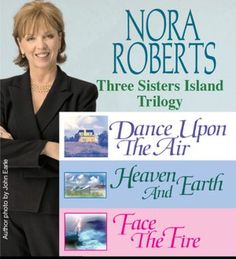 Nora Roberts Three Sisters Island Trilogy. Ashton's fave - and a great beach series, apparently!