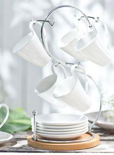 Un #clásico que nunca pasa de moda, la #vajilla #blanca es un #must que no debe faltar. #Cocina #Loza #Blanco #Homy