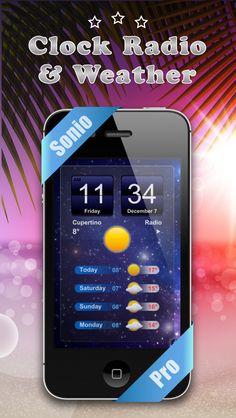 """Alarm Clock Radio - Sonio Pro on App Store:   Just imagine... all on one screen: radio weather forecast photo album with personalised slideshows and digital clock with alarm. Top of the range and amazingly easy to program practical and in a stunning design. This is... """"Sonio Pro - Alarm Clock Radio"""" ! Among the features: - Wak...  Developer: Eric MILLET  Download at http://ift.tt/1JgOSGw"""