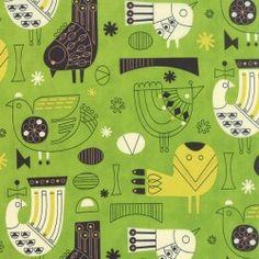 Tiki Tok - Birds - Apple Green
