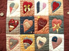 Country Love patchwork wall hanging by STORY QUILT, via Flickr