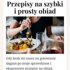 Na blogu nowy wpis!  A Ty co gotujesz gdy brak Ci czasu na stanie w kuchni? #przepis #recipe #obiad #dinner #home #domowe #kuchnia #gotowanie #cook #kakaludek #poznań #poznan #polska #poland