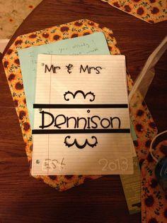 Mr. & Mrs. gift