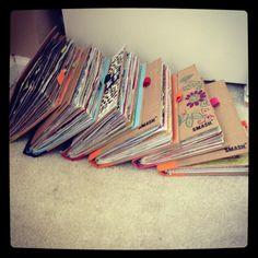 Smashbooks - I would love to take a peek inside these.....