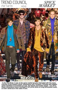 F/W 2014-15, menswear trend themes, spice trade / FASHION TREND