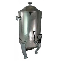 Stainless Steel Commercial Grade Coffee Carafe and Warmer. Perfect for a buffet or event rental