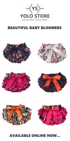 Baby ruffle bloomers in trendy and vintage inspired fabrics. Easy Baby Sewing Patterns, Baby Girl Dress Patterns, Baby Clothes Patterns, Toddler Outfits, Girl Outfits, Cute Outfits, Ruffle Bloomers, Vintage Inspired, Doll Clothes