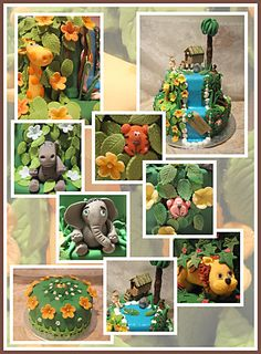 Fun Jungle Cake.....  Children's Birthday Cakes -