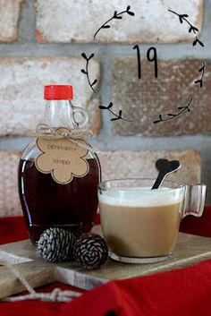 pikku murusia: Luukku 19: Piparkakkusiirappi Glass Of Milk, Panna Cotta, Baking, Drinks, Ethnic Recipes, Food, Drinking, Dulce De Leche, Beverages
