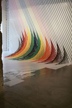 Installation art by Emily Sall and Rebecca Ward at the Paragraph Gallery in Kansas City