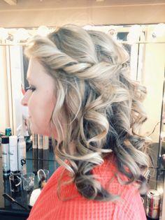 Half up, half down wedding hair - this was for a bridesmaid // by LULA Hair + Makeup