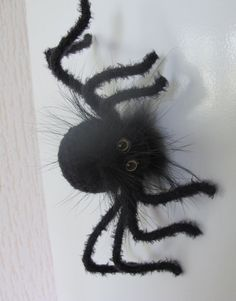 Halloween Spider, Halloween Magnet Black Spider, Halloween Toys, Cute Fridge Magnet, Handmade Black Funny Gifts, Holiday Souvenir