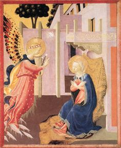 STROZZI, Zanobi The Annunciation c. 1453 Tempera and gold on panel, 37 x 30 cm Museum of Art, Philadelphia